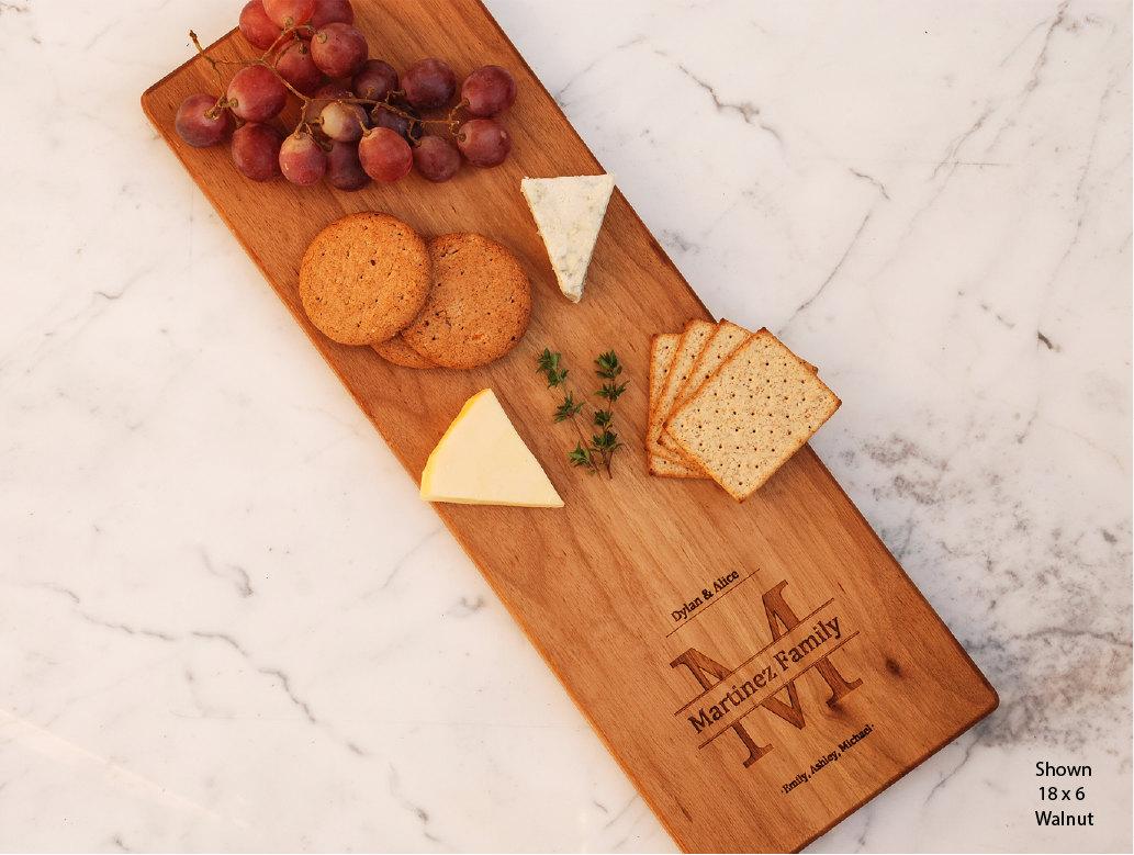 Custom Cheese Board Engraved Wedding Gift Last Name