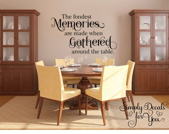 Fondest Memories Wall Decal, Wall Decal, Vinyl Wall Decal, Inspirational Wall  Decal,