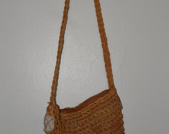 Vintage Straw Bucket Bag