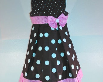 brown polka dot dress