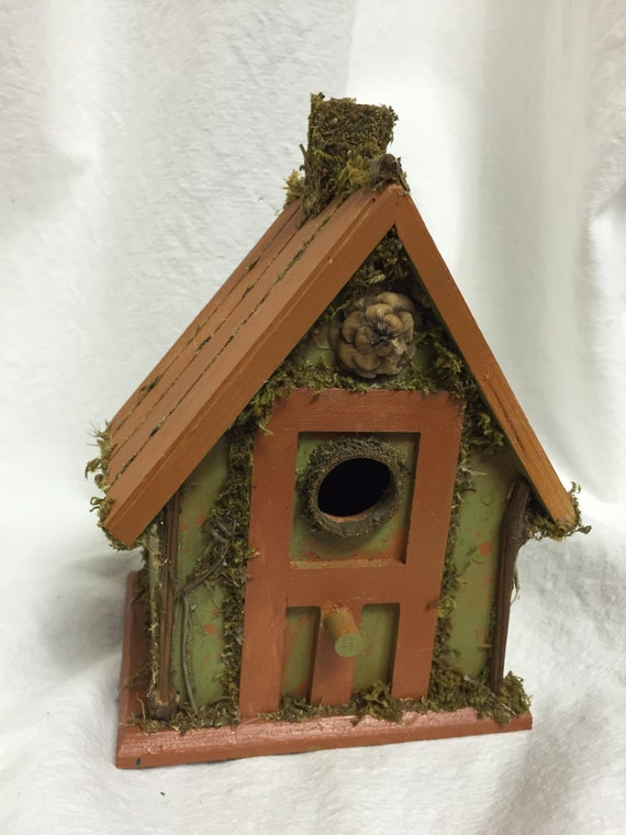 Decorative Bird House German Style Moss Chimney Birdhouse