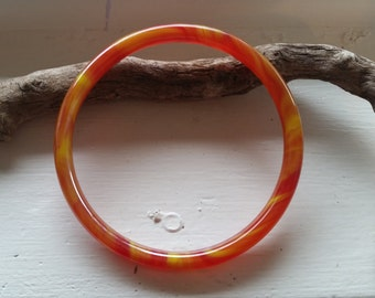 Orange Vintage Glass Bangle