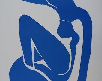 Henri MATISSE: Blue nude, signed original lithograph