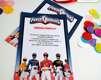 Kit printable Power Rangers