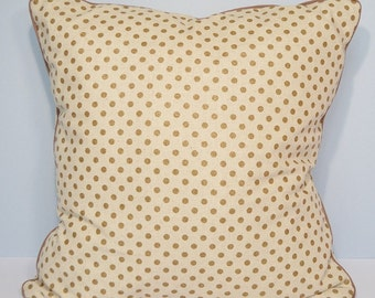 Cushion cover - beige Japanese fabric and Golden pea