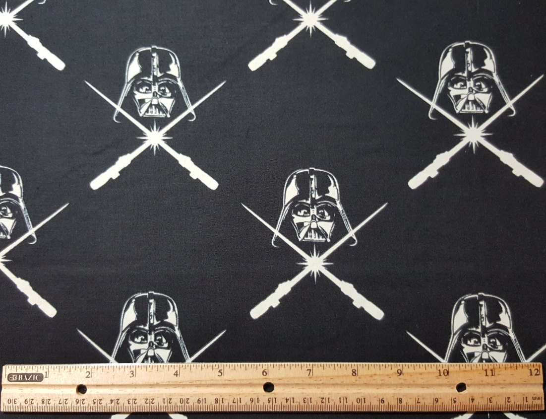 Glow in the dark darth vader fabric star wars fabric for Star fabric australia