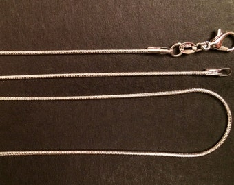 Sterling Silver Snake Chain Necklace 1MM Assorted Lengths