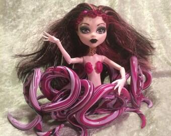 """Cecaelia Octopus Mermaid OoaK Doll """"Coral"""""""