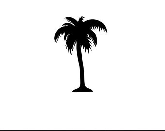 palm tree decal silhouette svg dxf file instant download silhouette cameo cricut clip art commercial use