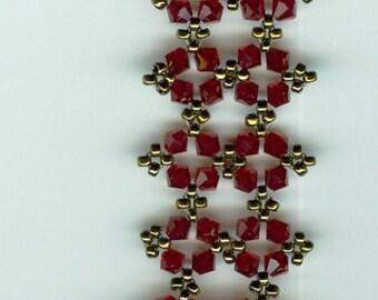 Woven Swarovski Crystal and Seed Bead Bracelet