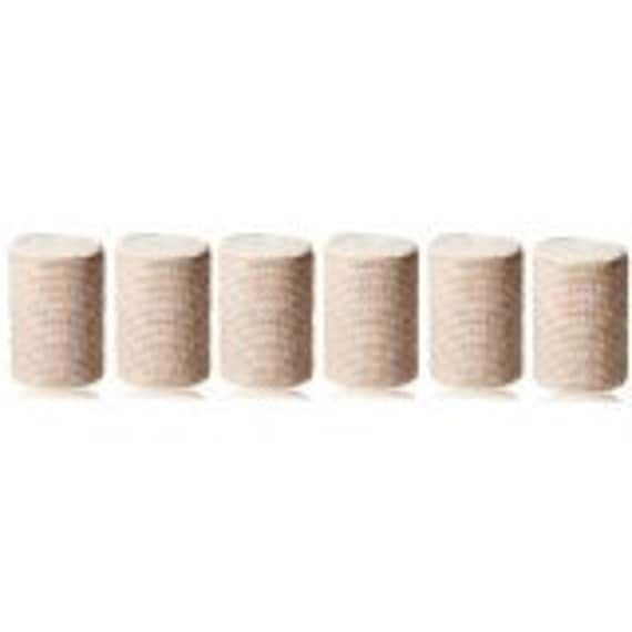 "GT 3"" Cotton Elastic Bandage with Velcro Closure on both ends, 3 inches wide x (13 to 15 ft. when stretched), 6 Pack"