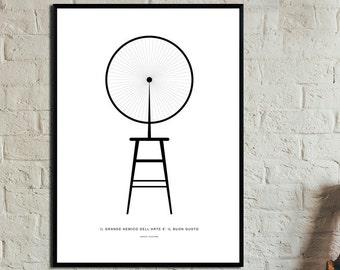 Roue de bicyclette Poster. Instant Download. Wall art. Abstract art. Print art. Modern art. Typography Poster. Digital art.
