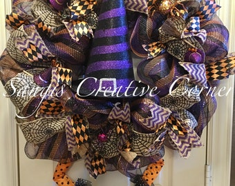 Halloween Wreath, Halloween Wreaths, Wreath, Fall Wreaths, Wreaths, Happy Halloween wreath, Halloween, Fall wreaths, Wicked Witch, Witch