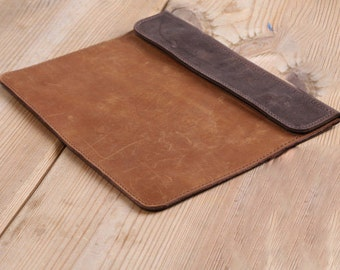 Leather iPad case, leather clutch, leather case, leather iPad 2 sleeve, leather iPad cover, womens leather clutch, iPad 3 case, mens clutch