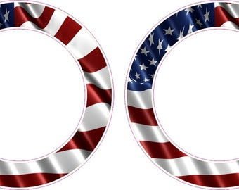 American Flag Rings Cornhole Board Hole Ring Stickers Baggo Vinyl Decal