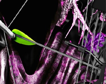 Bow Reaper Oblit Skull Pink Camo Cornhole Wrap Bag Toss Decal Baggo Skin Sticker Wraps