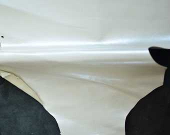 Beige Cream Leather Hide 50 x 30 cm Taupe Leather Hide Thickness 0,4 mm Italian Genuine Leather Rigid Cream Leather Hide b2