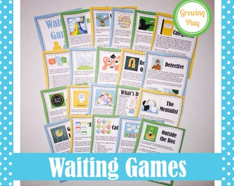 Waiting Games for Road Trips, Appointments and Camping - Campfire Games, Self Regulation Games