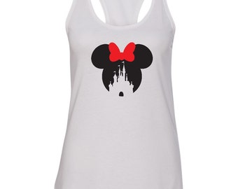 Disney inspired shirt, Minnie inspired shirt, Ladies Racerback, Minnie mouse shirt