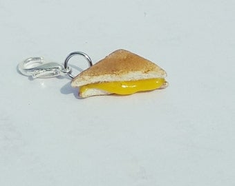 Grilled Cheese Charm, Polymer Clay Jewelry