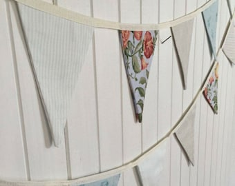 Fabric Bunting - Blue & Floral