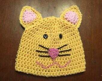 Crocheted Cat Beanie