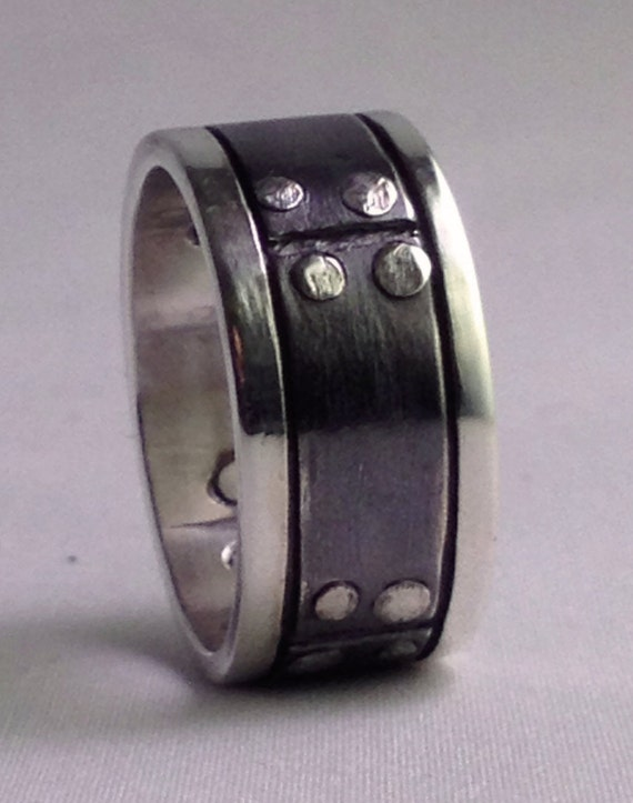 riveted steampunk wedding band - Steampunk Wedding Rings