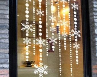 Christmas window decal, Star window Sticker, christmas ornament, christmas window sticker, Christmas Decal, holiday window decal