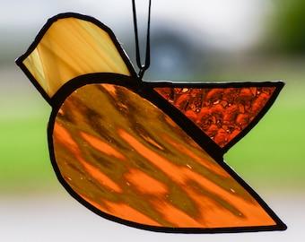 Stained Glass Bird Honey Ornament Suncatcher 6680
