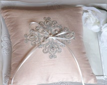 ANASTASIA - Silk Ring Bearer Pillow, Wedding Ring Pillow, Ring Pillow, Ring Bearer Pillow