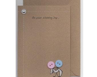 Wedding Day Button Card