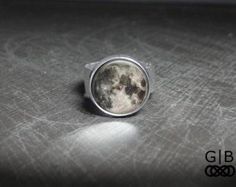 Moon Ring Full Moon Adjustable Ring - Full Moon Gift Jewelry Moon Ring - Full Moon Jewelry Ring - Full Moon Statement Ring Moon Gift Jewely