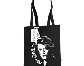 David Bowie Starman Organic Cotton Tote Bag - Ziggy Stardust, Choice of Colours,  1075