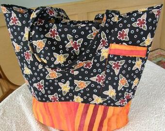 Black / Orange Handbag