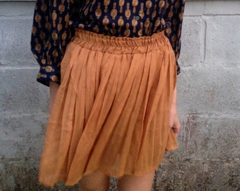 Gold, multi-layered sheer vintage skirt