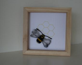 Bumble Bee with Golden Honeycomb