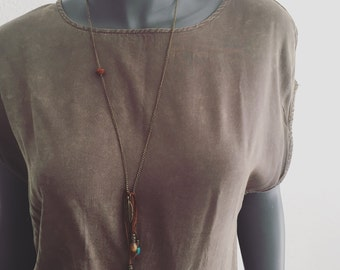 Inidaner Boho Look Glider chain necklace