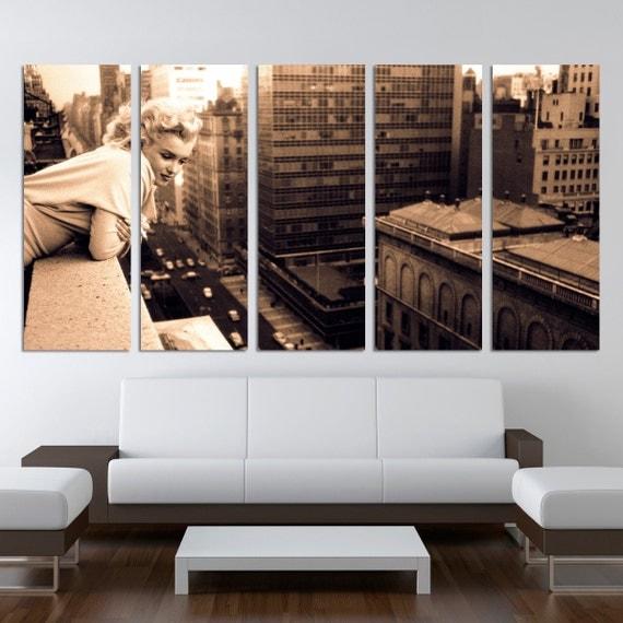 marilyn monroe 5 split panels home decor chicago canvas prints