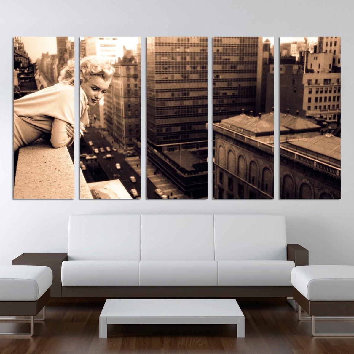 Chicago Home Decor Stores: Marilyn Monroe 5 Split Panels Home Decor Chicago Canvas Prints