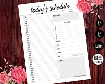 daily planner hourly printable