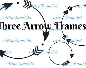 Circle Arrow Frames SVG  INSTANT DOWNLOAD