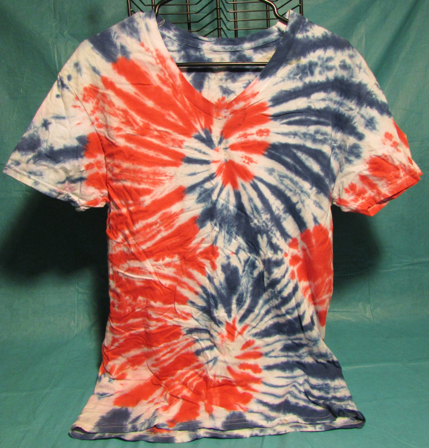 Red White Blue America Tie Dye Tee Shirt Hand Dyed By