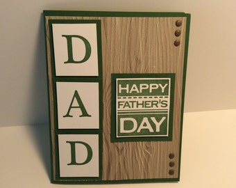 Stampin Up handmade Father's Day card