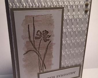 Stampin Up Handmade Sympathy Card