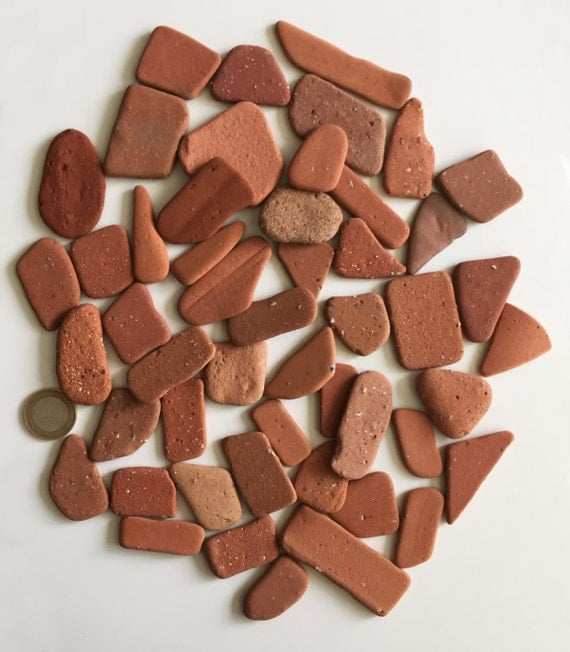 Terracotta large 50 pieces craft supplies beach pottery for Mosaic pieces for crafts