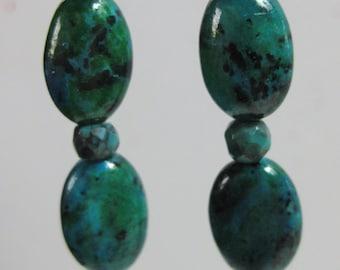 turquoise blue/green jasper earrings (see matching bracelet)