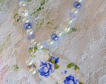 Romantic Crystal Prism Pendant Necklace