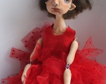OOAK art doll,doll,ooak doll, handmade doll,paper clay doll,decorative doll,ooak,ooak art doll, interior doll, dolls,collecting doll