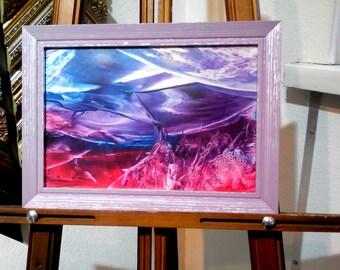 Encaustic Art, Modern Wall Art, Abstract Art,  Framed Art,  Original Encaustic Painting, Home decor,  Painting as a Gift