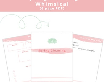 Spring Cleaning (Whimsical) Printables